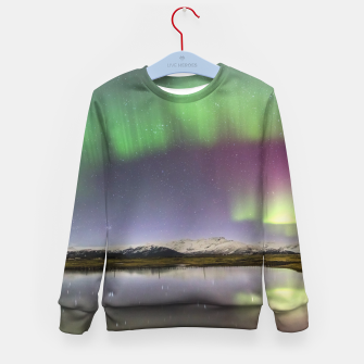 Thumbnail image of Polar Light over mountains Kid's Sweater, Live Heroes