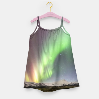 Polar Light over mountains Girl's Dress thumbnail image
