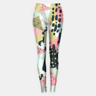 Miniaturka Abstract rhombus and texture Leggings, Live Heroes