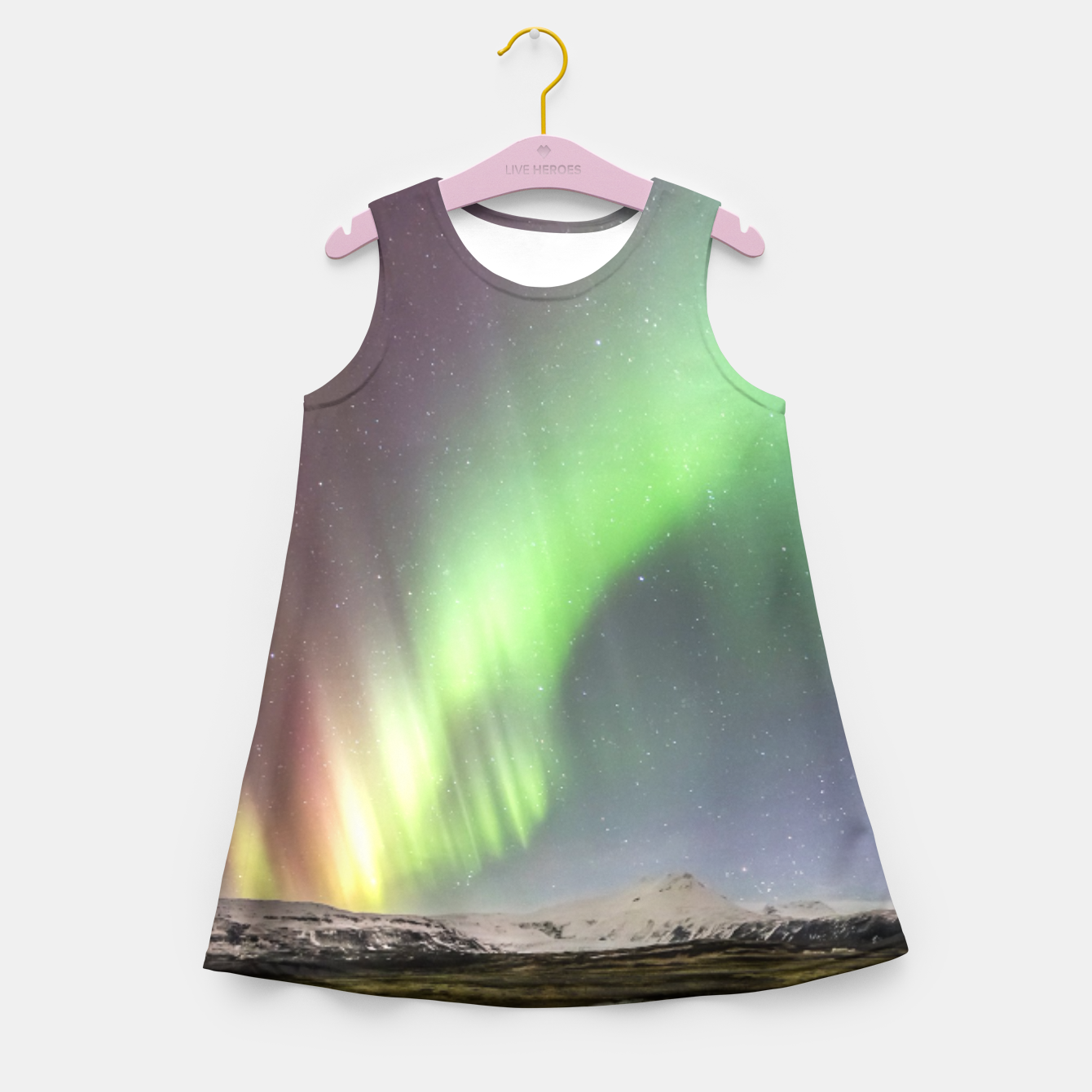 Image of Polar Light over mountains Girl's Summer Dress - Live Heroes