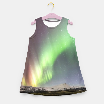 Thumbnail image of Polar Light over mountains Girl's Summer Dress, Live Heroes