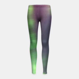 Thumbnail image of Polar Light over mountains Girl's Leggings, Live Heroes