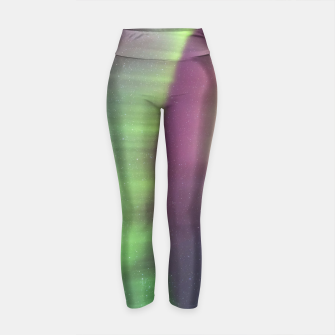 Thumbnail image of Polar Light over mountains Yoga Pants, Live Heroes
