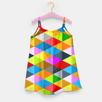 Miniaturka Modern bright funky colorful triangles pattern Girl's Dress, Live Heroes