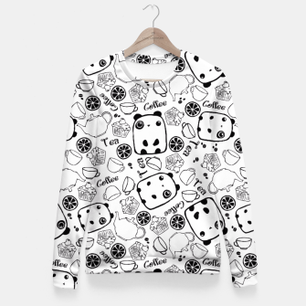 Thumbnail image of Pandas Tea Party Fitted Waist Sweater, Live Heroes