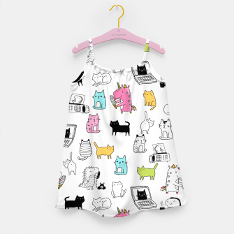 Miniaturka Unicorns Cats Dinos Girl's Dress, Live Heroes