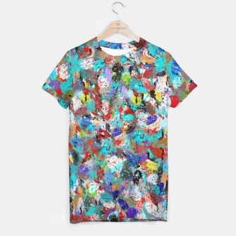 Miniatur Just Coloful Abstract Painting  T-shirt, Live Heroes