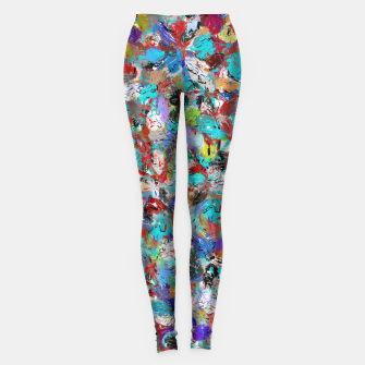 Miniatur Just Coloful Abstract Painting  Leggings, Live Heroes