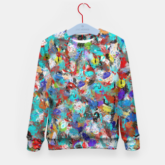 Miniatur Just Coloful Abstract Painting  Kid's Sweater, Live Heroes