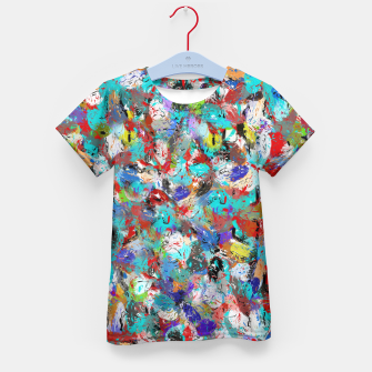Miniatur Just Coloful Abstract Painting  Kid's T-shirt, Live Heroes