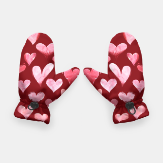 Imagen en miniatura de Watercolor valentine's day hearts Gloves, Live Heroes