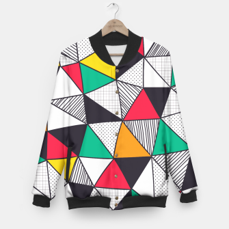 Thumbnail image of Geometrical Life Baseball Jacket, Live Heroes