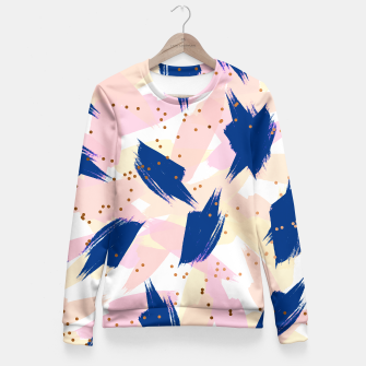 Thumbnail image of Abstract Painting V3 Fitted waist sweater, Live Heroes