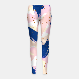 Thumbnail image of Abstract Painting V3 girl's leggings, Live Heroes