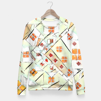 Thumbnail image of Confused Abstract Painting  Fitted Waist Sweater, Live Heroes