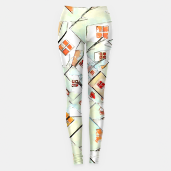 Thumbnail image of Confused Abstract Painting  Leggings, Live Heroes