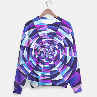 Pink / Purple Abstract Tunnel Abstract Circle  Sweater obraz miniatury