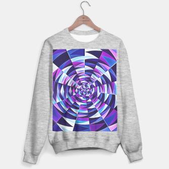 Pink / Purple Abstract Tunnel Abstract Circle  Sweater regular obraz miniatury