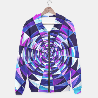 Pink / Purple Abstract Tunnel Abstract Circle  Hoodie obraz miniatury