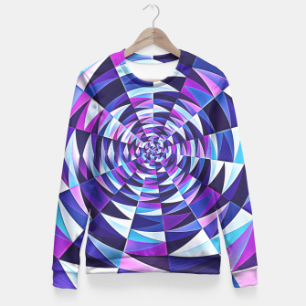 Pink / Purple Abstract Tunnel Abstract Circle  Fitted Waist Sweater obraz miniatury