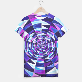 Pink / Purple Abstract Tunnel Abstract Circle  T-shirt obraz miniatury