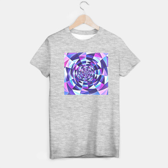 Pink / Purple Abstract Tunnel Abstract Circle  T-shirt regular obraz miniatury