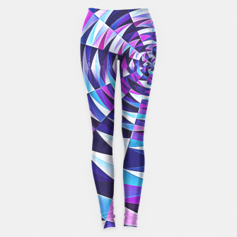 Pink / Purple Abstract Tunnel Abstract Circle  Leggings obraz miniatury