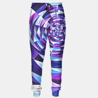 Pink / Purple Abstract Tunnel Abstract Circle  Sweatpants obraz miniatury