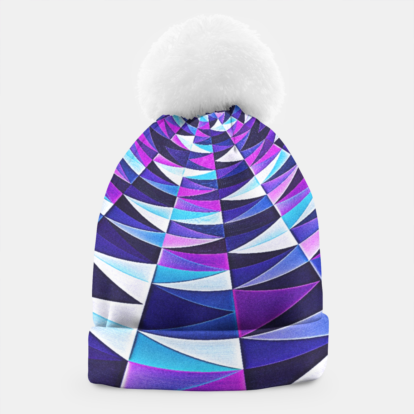 Zdjęcie Pink / Purple Abstract Tunnel Abstract Circle  Beanie - Live Heroes