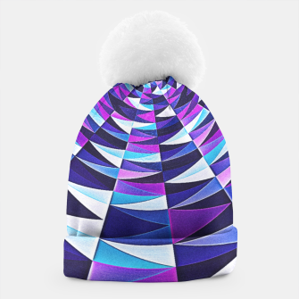 Miniaturka Pink / Purple Abstract Tunnel Abstract Circle  Beanie, Live Heroes