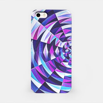Pink / Purple Abstract Tunnel Abstract Circle  iPhone Case obraz miniatury
