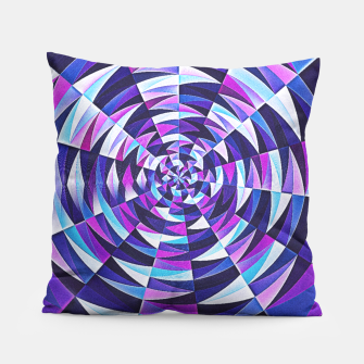 Pink / Purple Abstract Tunnel Abstract Circle  Pillow obraz miniatury