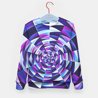 Pink / Purple Abstract Tunnel Abstract Circle  Kid's Sweater obraz miniatury