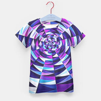 Pink / Purple Abstract Tunnel Abstract Circle  Kid's T-shirt obraz miniatury