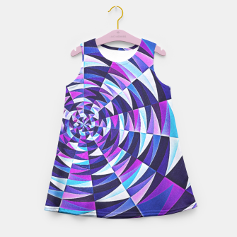 Pink / Purple Abstract Tunnel Abstract Circle  Girl's Summer Dress obraz miniatury