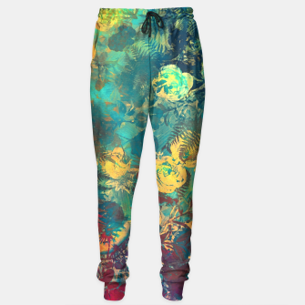 Thumbnail image of flowers green Sweatpants, Live Heroes