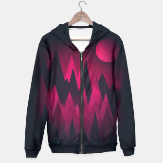 Dark Triangles (Peak Woods) Abstract Grunge Mountains Design (red/black) Hoodie miniature