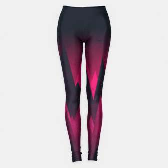 Thumbnail image of Dark Triangles (Peak Woods) Abstract Grunge Mountains Design (red/black) Leggings, Live Heroes