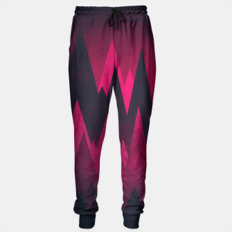 Thumbnail image of Dark Triangles (Peak Woods) Abstract Grunge Mountains Design (red/black) Sweatpants, Live Heroes