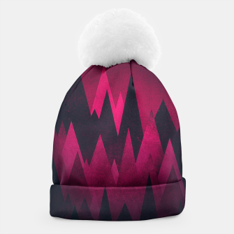 Thumbnail image of Dark Triangles (Peak Woods) Abstract Grunge Mountains Design (red/black) Beanie, Live Heroes
