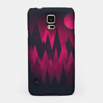 Thumbnail image of Dark Triangles (Peak Woods) Abstract Grunge Mountains Design (red/black) Samsung Case, Live Heroes