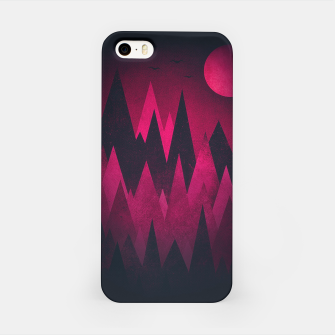 Thumbnail image of Dark Triangles (Peak Woods) Abstract Grunge Mountains Design (red/black) iPhone Case, Live Heroes