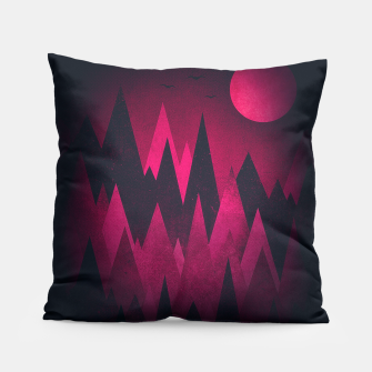 Thumbnail image of Dark Triangles (Peak Woods) Abstract Grunge Mountains Design (red/black) Pillow, Live Heroes