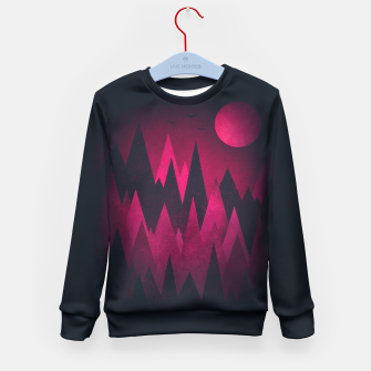 Miniature de image de Dark Triangles (Peak Woods) Abstract Grunge Mountains Design (red/black) Kid's Sweater, Live Heroes