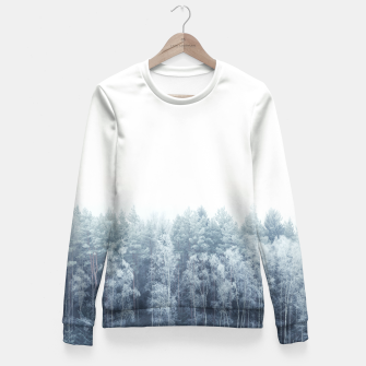 Thumbnail image of Frosty forest feelings Fitted Waist Sweater, Live Heroes