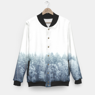 Thumbnail image of Frosty forest feelings Baseball Jacket, Live Heroes