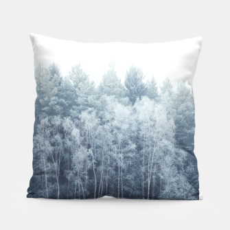 Thumbnail image of Frosty forest feelings Pillow, Live Heroes