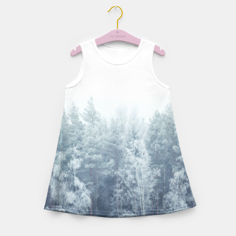 Thumbnail image of Frosty forest feelings Girl's Summer Dress, Live Heroes