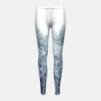 Miniature de image de Frosty forest feelings Girl's Leggings, Live Heroes
