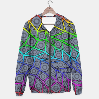 Thumbnail image of Rainbow Bright Bold Geometric Pattern  Hoodie, Live Heroes
